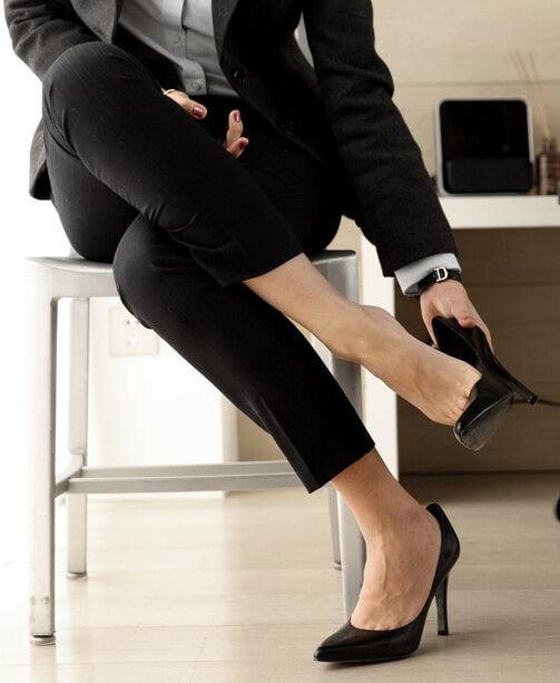 Businessfrau in High Heels