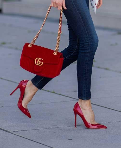 Rote Pumps kombinieren – so tragen Sie die roten Schuhe im Herbst 2018